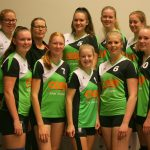 Volleybalvereniging Thriantha teamfoto meisjes A seizoen 2017 - 2018