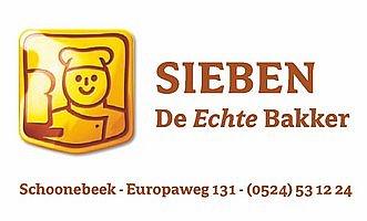 vv Thriantha, advertentie sponsor, logo bakkerij Sieben te Schoonebeek