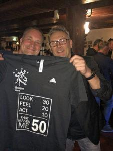 VV Thriantha, heren 1, Henk Klein 50 jaar op 2018-03-21
