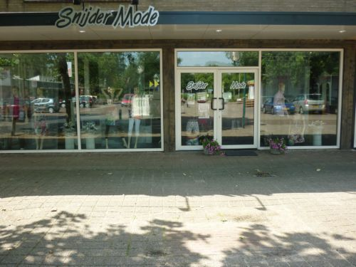 vv Thriantha, advertentie sponsor logo Snijdermode te Schoonebeek