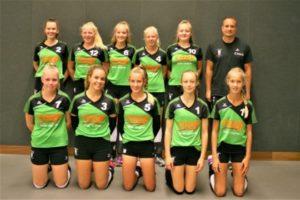 vv Thriantha - teamfoto meisjes B1 - seizoen 2018-2019