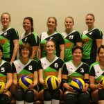 Teamfoto volleybalvereniging Thriantha Dames 2 seizoen 2017 - 2018