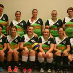 Teamfoto volleybalvereniging Thriantha Dames 4 seizoen 2017 - 2018
